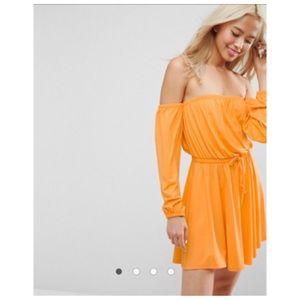 ASOS Bardot Long Sleeve Skater Dress